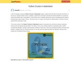 Python Course Training in Hyderabad