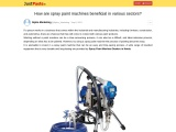 How are spray paint machines beneficial in various sectors?