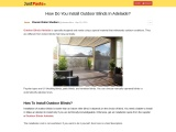How Do You Install Outdoor Blinds In Adelaide?