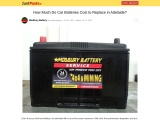 How Much Do Car Batteries Cost to Replace in Adelaide?