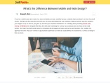 What's the Difference Between Mobile and Web Design?