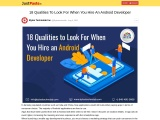 18 Qualities To Look For When You Hire An Android Developer