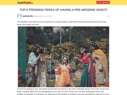 TOP 6 TRENDING PERKS OF HAVING A PRE-WEDDING SHOOT!