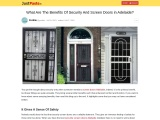 What Are The Benefits Of Security And Screen Doors in Adelaide?
