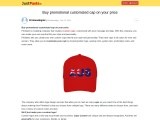 Buy promotional customized cap on your price