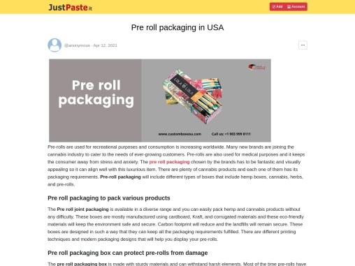 Pre roll packaging in Multiple Designs & Huge Variety