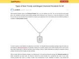 Types of Best Trendy and Elegant Diamond Pendants for All
