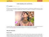 Gold Jewellery do's and Don'ts
