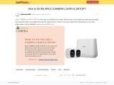 How to do the ARLO CAMERA LOGIN & SETUP?