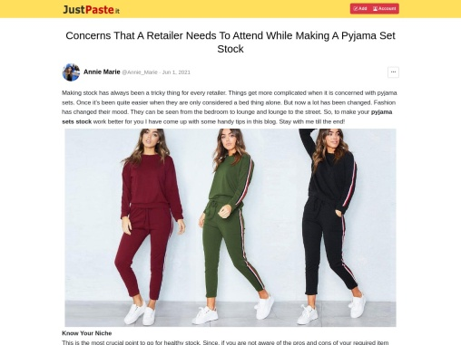 Womens Pyjama Sets – Crazy Tips to Start a Clothing Business