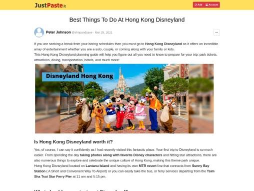 Best Things To Do At Hong Kong Disneyland