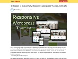 9 Reasons to Explain Why Responsive WordPress Themes Are Helpful