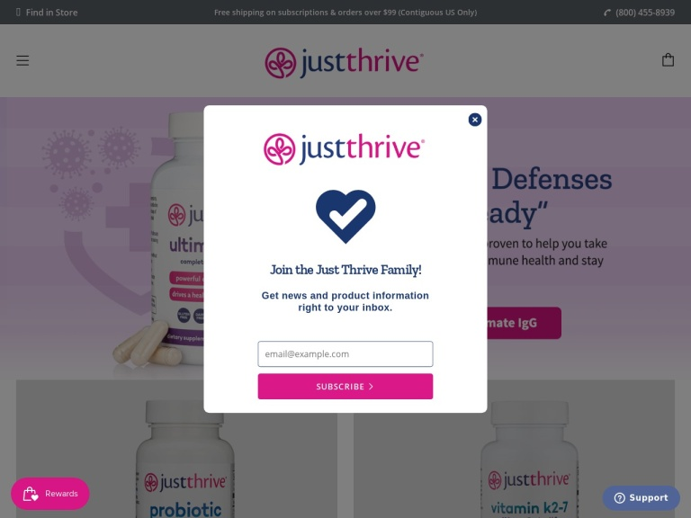 Just Thrive screenshot