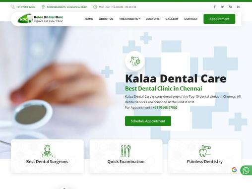 Top 10 Dentists in Chennai-Kalaa Dental Care