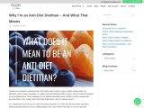 Why I'm an Anti-Diet Dietitian – And What That Means