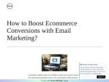 Bcz- How to Boost Ecommerce Conversions with Email Marketing?