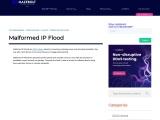 Malformed IP Flood | MazeBolt Knowledge Base