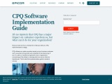 CPQ Software Implementation Guide