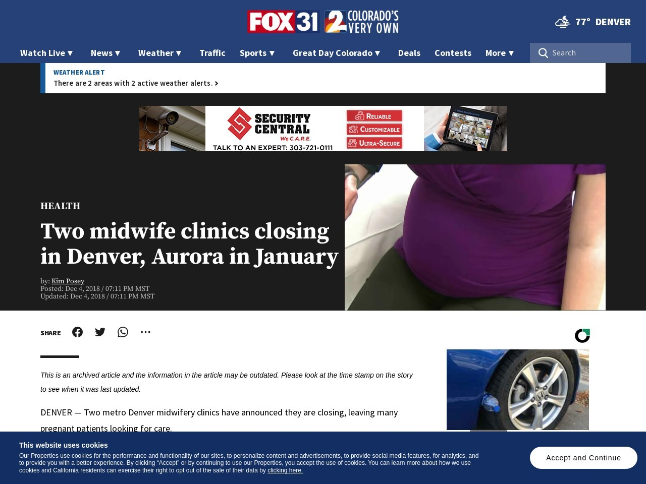 Two midwife clinics closing in Denver, Aurora in January