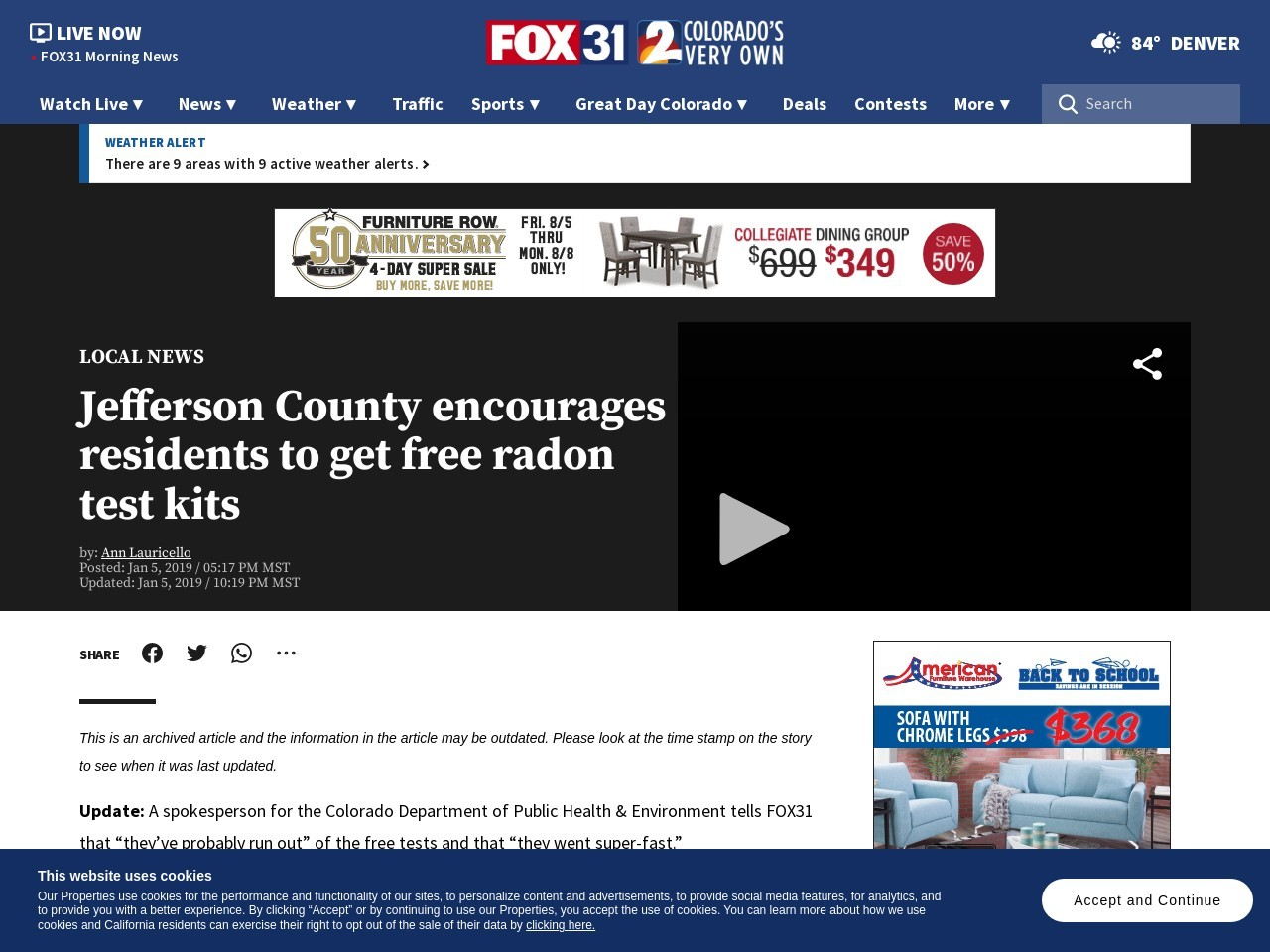 Jefferson County encourages residents to get free radon test kits