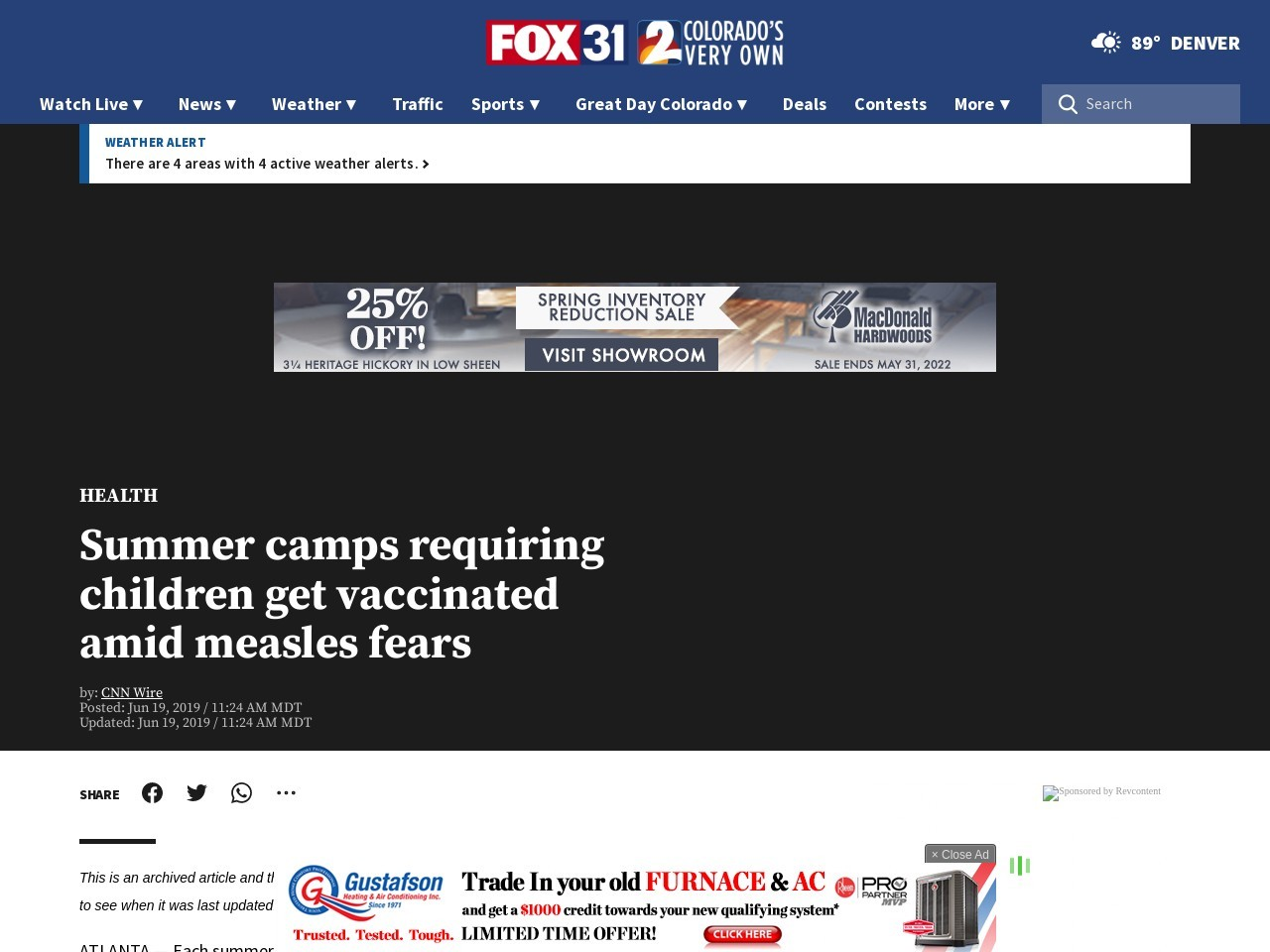Summer camps requiring children get vaccinated amid measles fears
