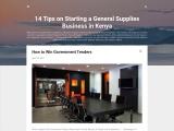 General Supplies Business Start Up in Kenya