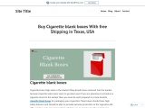 Empty Cigarette Boxes with Printed logo & Designing USA