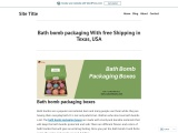Eco friendly bath bomb packaging with Printed logo & Design in USA