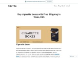Cardboard cigarette box Available in All Sizes & Shapes in USA