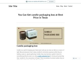 Make Your Own luxury candle packaging With free Shipping in USA