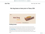 Fully utilize hotdog box packaging to enhance your business in USA