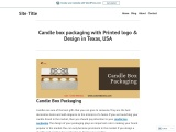 Buy candle boxes wholesale with free Shipping in Texas, USA