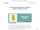 You can get custom printed cereal boxes at cheap rate in USA