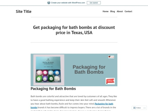 Buy Packaging for bath bombs at best price in Texas, USA