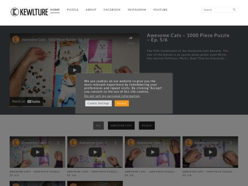 Kewlture Website – Puzzle and Inspiration