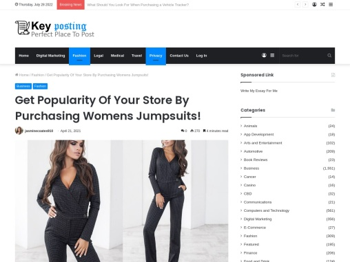 Womens Playsuits Supplier – Simple & Classic Jumpsuits For Ladies!