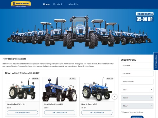 New Holland Tractor in India