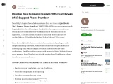 Resolve Your Business Queries With QuickBooks 24×7 Support Phone Number