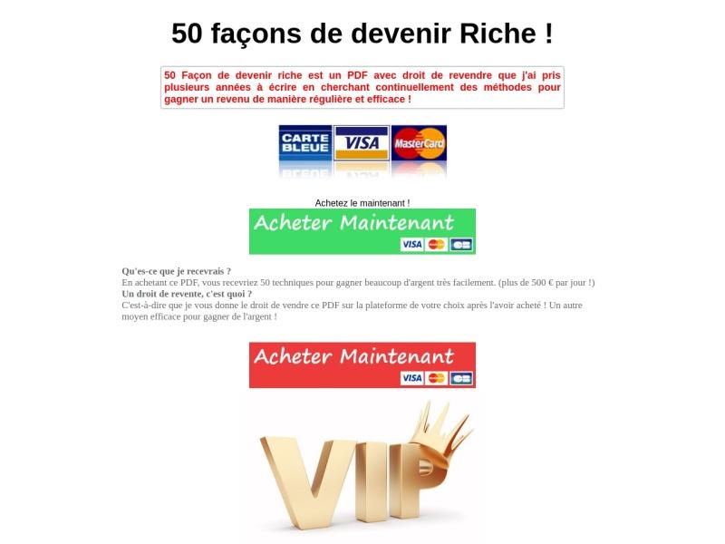 50 facons de gagner de l'argent en ligne