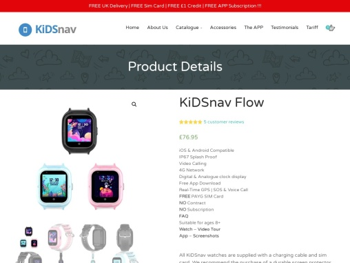 KiDSnav Flow – KIDSnav – Kids GPS Tracking Smart Watch