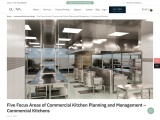 Five Focus Areas of Commercial Kitchen Planning and Management