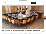 Key Indicators for Restaurant Facilities Planning and Management