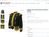 Golden Hand Embroidered Doublet Jacket