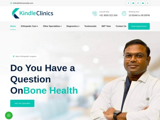 Best Orthopedic Doctor in Hyderabad – Kindle Clinics