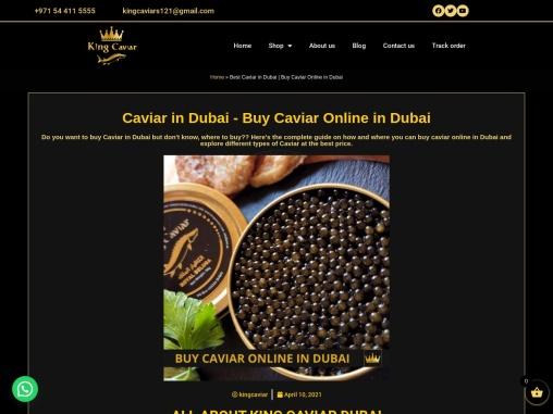 Caviar Dubai – King Caviars Dubai