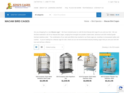 macaw cage for salekings cages