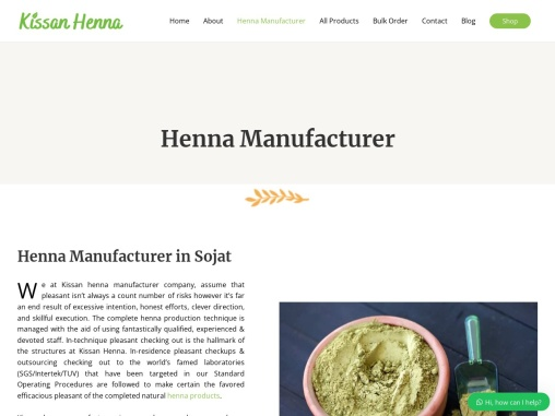 Henna Manufacturing Company in India