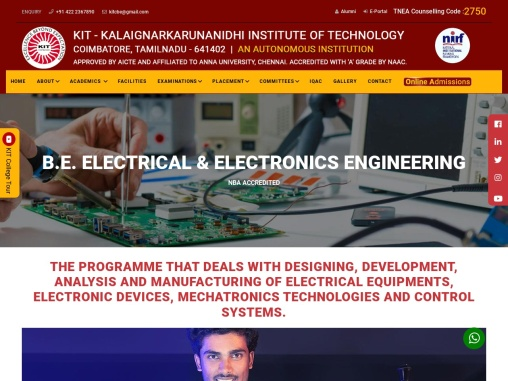 Electrical & Electronics Engineering Colleges in Coimbatore – KIT