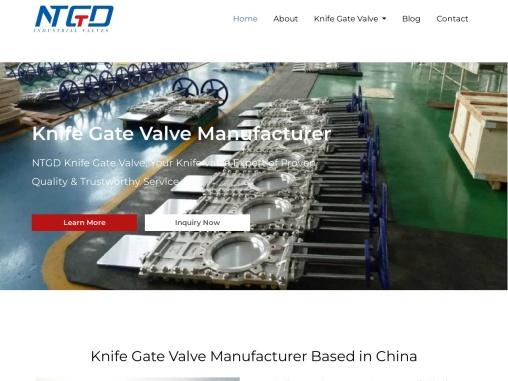 NTGD Knife Gate Valve, Your Knife valve Expert of Proven Quality & Trustworthy Service