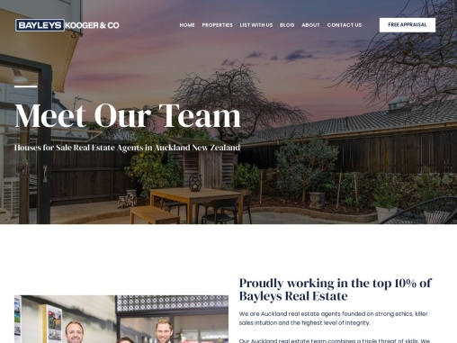 Real Estate Agents in Auckland | Kooger & Co | Bayleys Real Estate